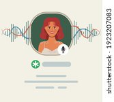 social media clubhouse app for... | Shutterstock .eps vector #1923207083
