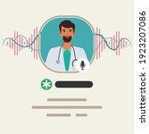 social media clubhouse app for... | Shutterstock .eps vector #1923207086