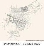 black simple detailed street...   Shutterstock .eps vector #1923214529