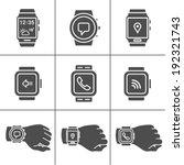 smart watch icons. vector... | Shutterstock .eps vector #192321743