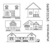 house icons set on white... | Shutterstock .eps vector #1923218090
