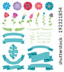 flowers and ribbons design