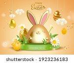 3d creative easter egg... | Shutterstock .eps vector #1923236183