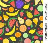 vector fruit seamless pattern....   Shutterstock .eps vector #1923240359