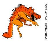 monster wolf cartoon vector.... | Shutterstock .eps vector #1923241829