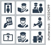 customs vector icons set
