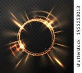 bright golden flash. explosion... | Shutterstock .eps vector #1923253013