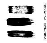black grunge brush strokes. set ... | Shutterstock .eps vector #1923254333