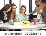 diverse group of students... | Shutterstock . vector #192326543