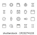 simple set of time related... | Shutterstock .eps vector #1923274133