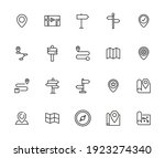 icon set of location. editable... | Shutterstock .eps vector #1923274340