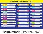 set of business infographic...   Shutterstock .eps vector #1923280769