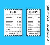 set of receipt paper vector...   Shutterstock .eps vector #1923288860