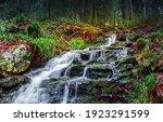 River Creek Waterfall Flowing...