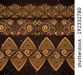 vintage ethnic seamless borders   Shutterstock .eps vector #192332780