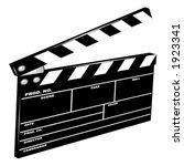 movie clapboard in perspective | Shutterstock .eps vector #1923341
