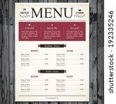 restaurant menu design | Shutterstock .eps vector #192335246