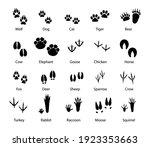 animals and birds feet tracks ... | Shutterstock .eps vector #1923353663