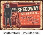 moto speedway racer rusty metal ... | Shutterstock .eps vector #1923354233