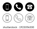 phone icon set. call icon... | Shutterstock .eps vector #1923356330