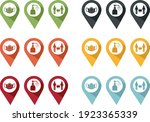 pins of barrier gestures to... | Shutterstock .eps vector #1923365339