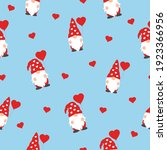 cute valentines gnomes in red... | Shutterstock .eps vector #1923366956