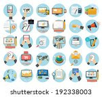 web design objects  business ...   Shutterstock . vector #192338003