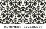 vector damask seamless pattern. ...   Shutterstock .eps vector #1923383189