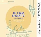 iftar party invitation poster... | Shutterstock .eps vector #1923383540