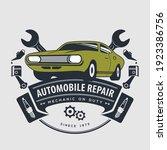 car repair service  vintage... | Shutterstock .eps vector #1923386756