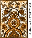 illustration in stained glass... | Shutterstock .eps vector #1923390503