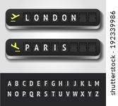 vector airport flip board... | Shutterstock .eps vector #192339986