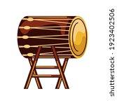 traditional african drum rustic ... | Shutterstock .eps vector #1923402506