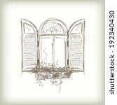 Scribble Vector Window. Drawn...