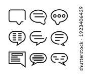 speech icon or logo isolated...