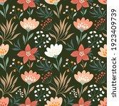 spring  summer seamless pattern ... | Shutterstock .eps vector #1923409739