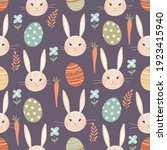 easter seamless pattern with... | Shutterstock .eps vector #1923415940