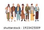 group of modern stylish women...   Shutterstock .eps vector #1923425009