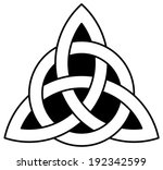 3 point celtic triquetra ... | Shutterstock .eps vector #192342599
