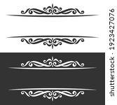 monochrome borders for greeting ... | Shutterstock . vector #1923427076