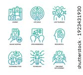 generation z icons set gradient ... | Shutterstock .eps vector #1923431930