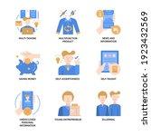 generation z icons set flat... | Shutterstock .eps vector #1923432569