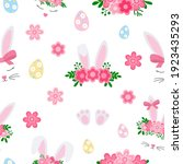 seamless pattern cute easter...   Shutterstock .eps vector #1923435293