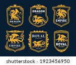 royal heraldic icons with... | Shutterstock .eps vector #1923456950