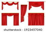 realistic curtains  3d vector... | Shutterstock .eps vector #1923457040