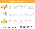 tracing lines for kids with...   Shutterstock .eps vector #1923458510