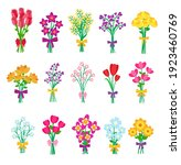 a set of beautiful bouquets of... | Shutterstock .eps vector #1923460769