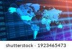 vector. abstract blue... | Shutterstock .eps vector #1923465473
