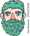 Vector Image. A Man With...