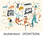 characters active life  sport... | Shutterstock .eps vector #1923473246